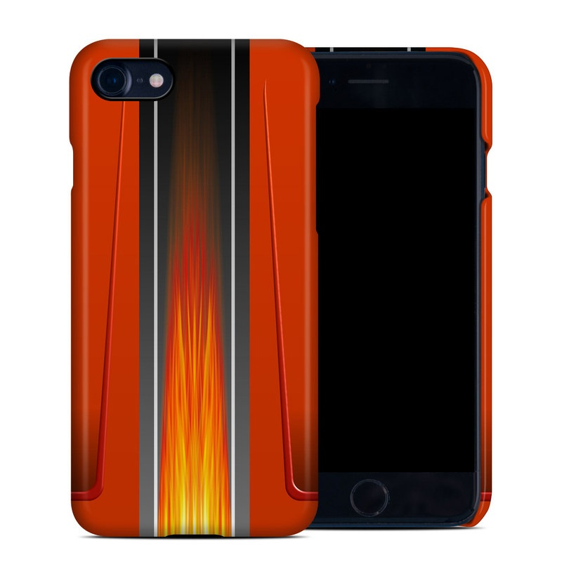 iPhone 8 Clip Case design of Orange, Red, Line, Material property, Rectangle, Automotive lighting with red, black, orange, gray colors