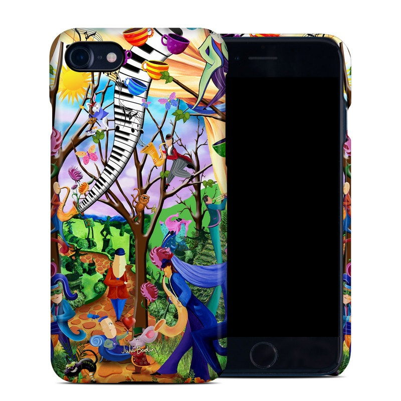 iPhone 8 Clip Case design of Modern art, Art, Mural, Painting, Psychedelic art, Visual arts, Tree, Child art, Organism, Plant with black, gray, red, green, blue colors