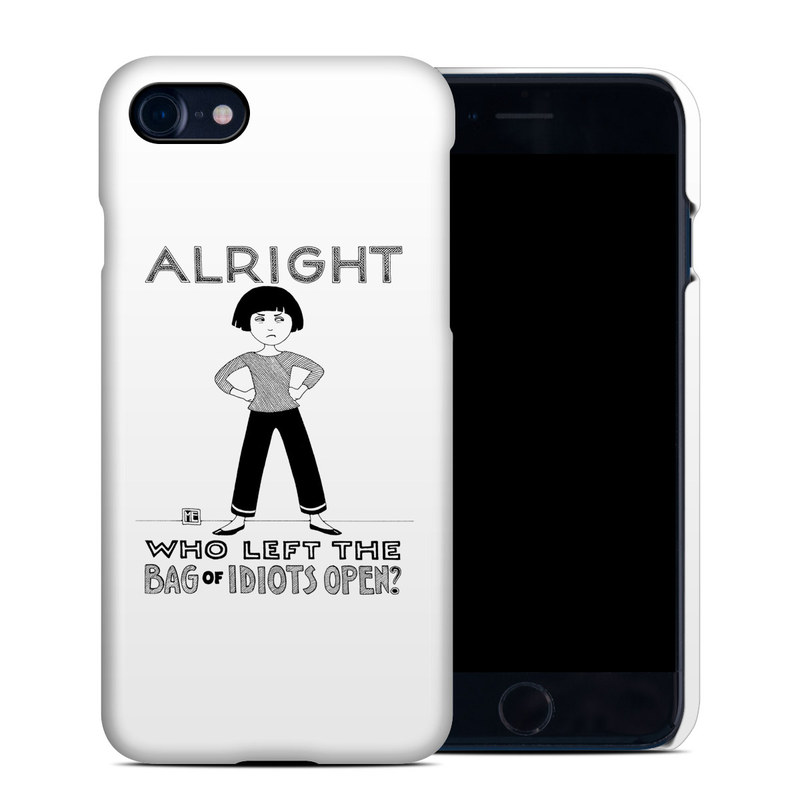 iPhone 8 Clip Case design of Font, Poster, Illustration with black, white colors