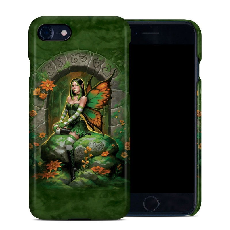 iPhone 8 Clip Case design of Fictional character, Cg artwork, Mythology, Mythical creature, Illustration, Plant, Art with black, green, red, gray colors