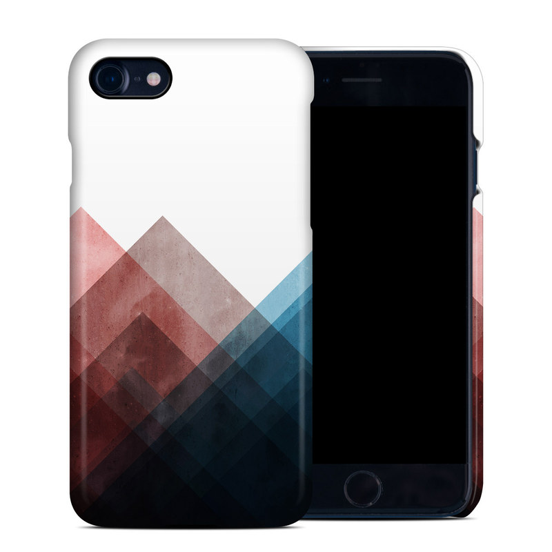 iPhone 8 Clip Case design of Blue, Red, Sky, Pink, Line, Architecture, Font, Graphic design, Colorfulness, Illustration with red, pink, blue colors