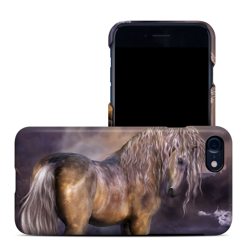 iPhone 8 Clip Case design of Horse, Mane, Stallion, Mustang horse, Fictional character, Mare, Painting, Wildlife, Mythical creature with black, gray, red, blue, green colors