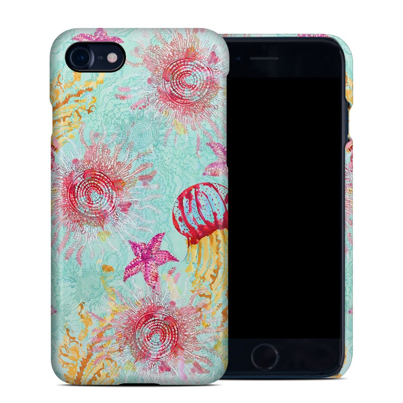 iPhone 8 Clip Case design of Pink, Aqua, Pattern, Teal, Floral design, Visual arts, Textile, Design, Magenta, Art with blue, red, pink, yellow colors
