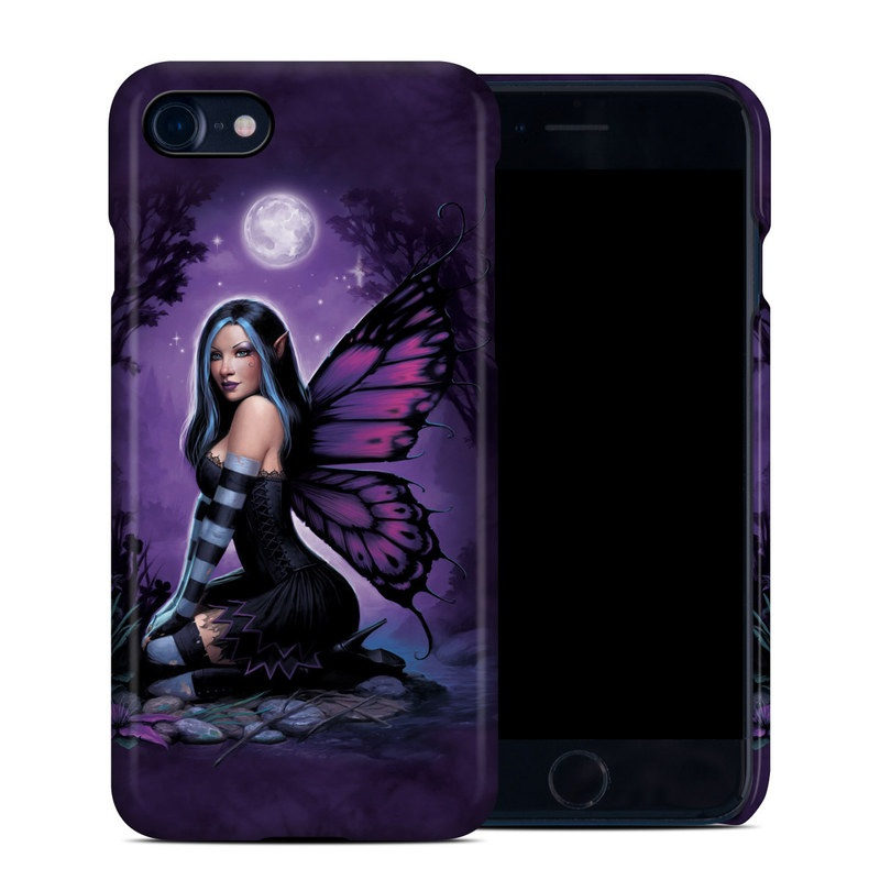 iPhone 8 Clip Case design of Cg artwork, Purple, Violet, Fictional character, Mythical creature, Wing, Angel, Supernatural creature, Illustration, Woman warrior with black, blue, purple, gray colors