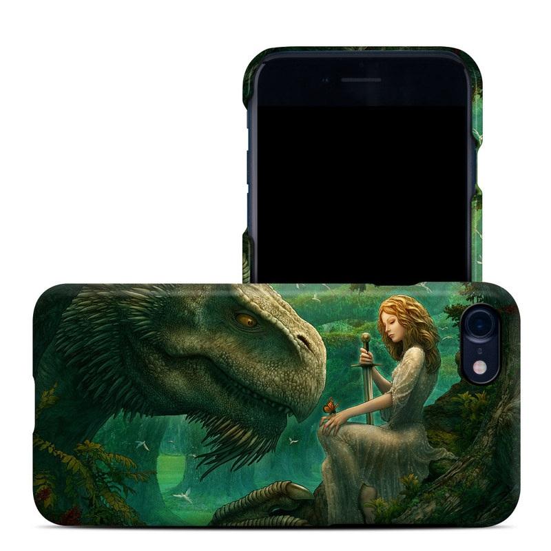 iPhone 8 Clip Case design of Dinosaur, Cg artwork, Mythology, Fictional character, Troodon, Extinction, Velociraptor, Illustration, Animated cartoon, Tyrannosaurus with black, green, gray, red colors