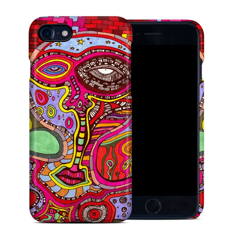 iPhone 8 Clip Case design of Psychedelic art, Art, Visual arts, Pattern, Modern art, Design, Illustration, Paisley, Motif, Textile with red, gray, black, green, purple, pink colors