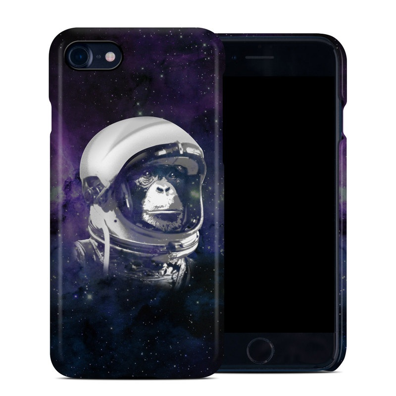 iPhone 8 Clip Case design of Helmet, Astronaut, Personal protective equipment, Illustration, Space, Outer space, Headgear, Fictional character, Sports gear, Football gear with black, gray, blue, white colors