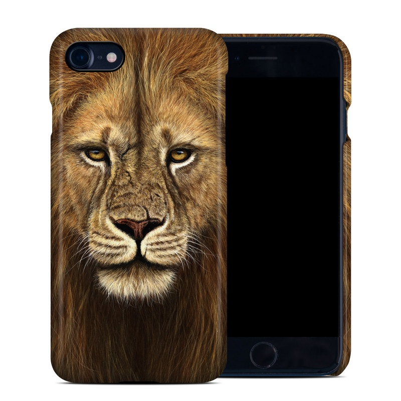 iPhone 8 Clip Case design of Mammal, Wildlife, Vertebrate, Lion, Hair, Terrestrial animal, Masai lion, Felidae, Whiskers, Face with black, red, green, gray colors