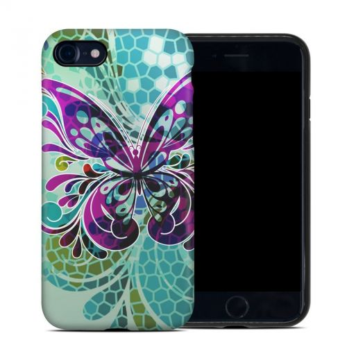 Butterfly Glass iPhone 8 Hybrid Case