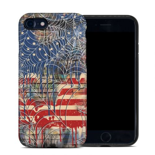 Cobweb Flag iPhone 8 Hybrid Case