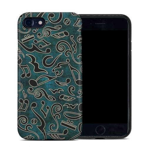 Music Notes iPhone 8 Hybrid Case