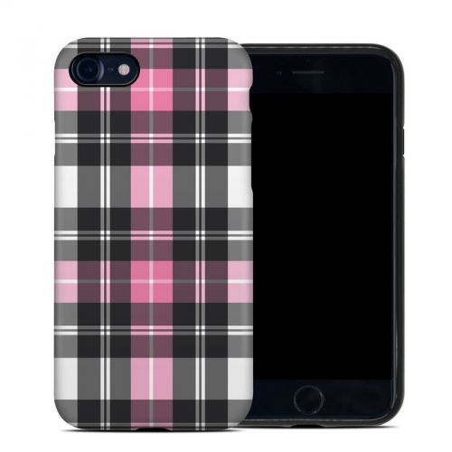 Pink Plaid iPhone 7 Hybrid Case