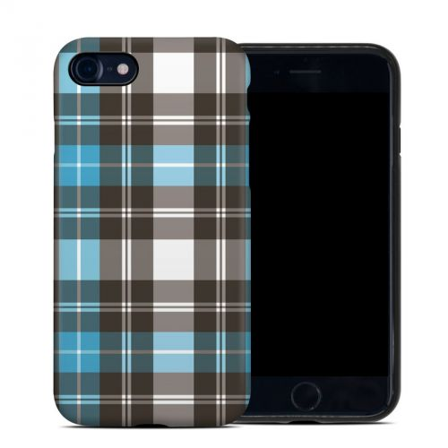 Turquoise Plaid iPhone 8 Hybrid Case