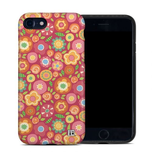 Flowers Squished iPhone 8 Hybrid Case