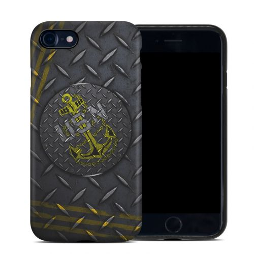 USN Diamond Plate iPhone 8 Hybrid Case