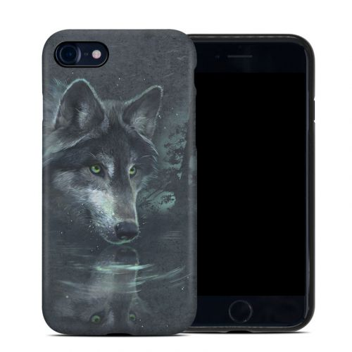 Wolf Reflection iPhone 8 Hybrid Case