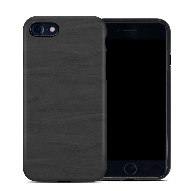 iPhone 8 Hybrid Case design of Black, Brown, Wood, Grey, Flooring, Floor, Laminate flooring, Wood flooring with black colors
