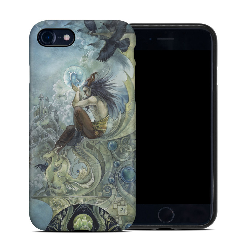 iPhone 8 Hybrid Case design of Illustration, Mythology, Art, Cg artwork, Painting, Watercolor paint, Fictional character, Visual arts, Graphic design, Graphics with blue, yellow, black, white colors