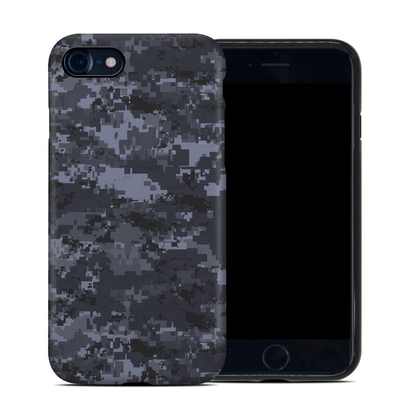 Digital Navy Camo iPhone 8 Hybrid Case