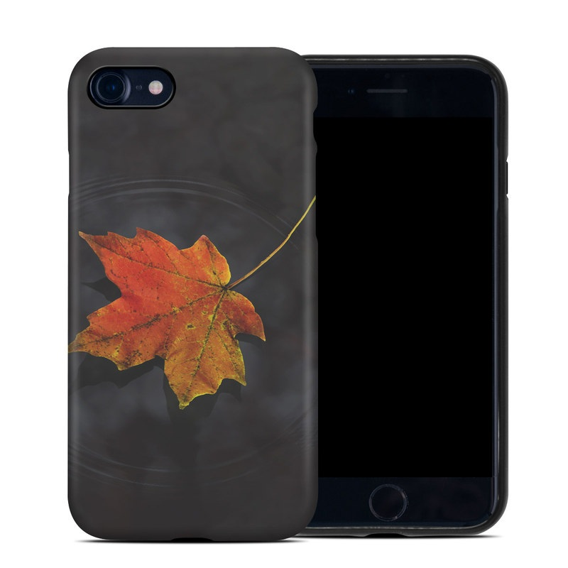 iPhone 8 Hybrid Case design of Leaf, Maple leaf, Tree, Black maple, Sky, Yellow, Deciduous, Orange, Autumn, Red with black, red, green colors