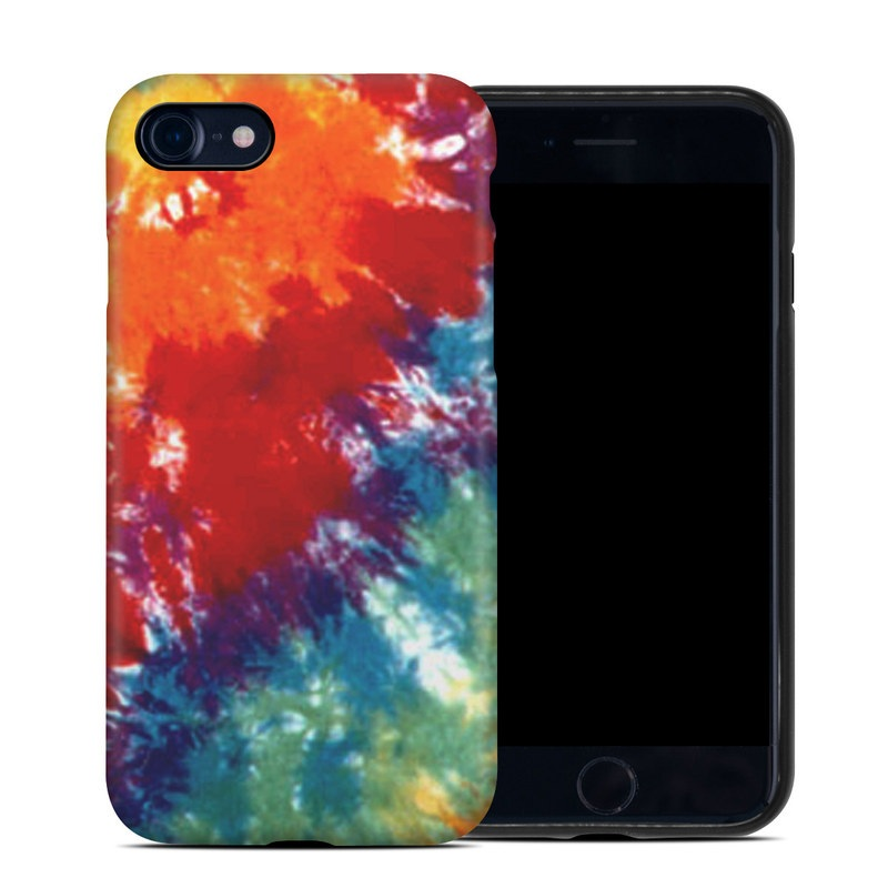 iPhone 8 Hybrid Case design of Orange, Watercolor paint, Sky, Dye, Acrylic paint, Colorfulness, Geological phenomenon, Art, Painting, Organism with red, orange, blue, green, yellow, purple colors