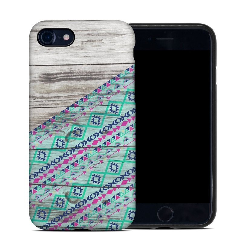 iPhone 8 Hybrid Case design of Turquoise, Pattern, Pink, Line, Magenta, Parallel with gray, blue, purple colors