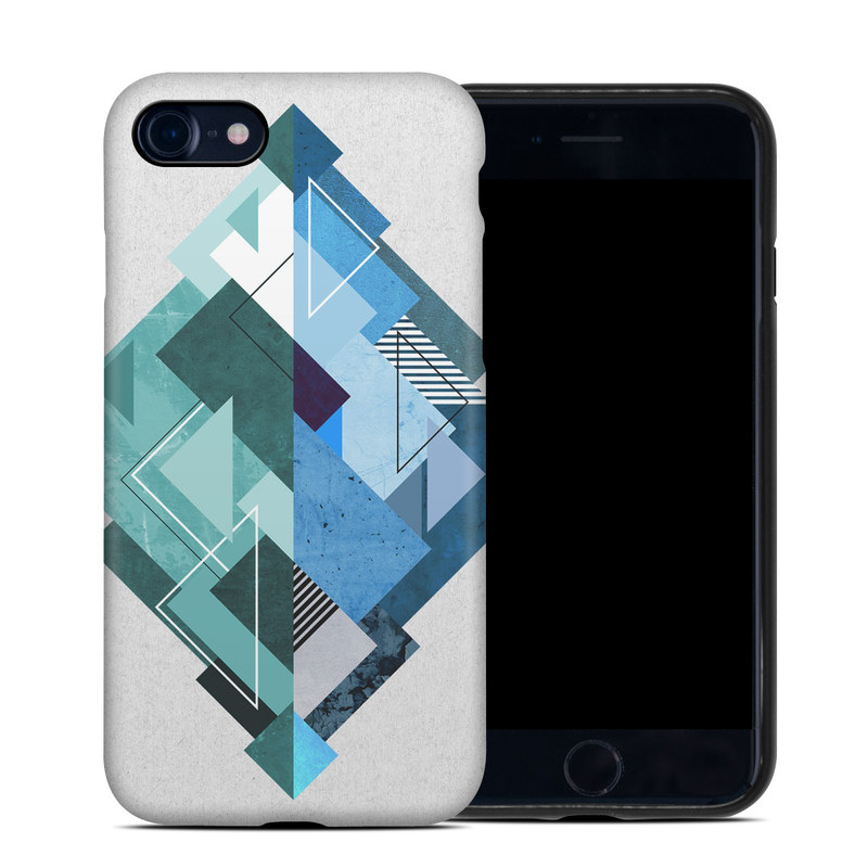 iPhone 8 Hybrid Case design of Blue, Turquoise, Illustration, Graphic design, Design, Line, Logo, Triangle, Graphics with gray, blue, purple colors
