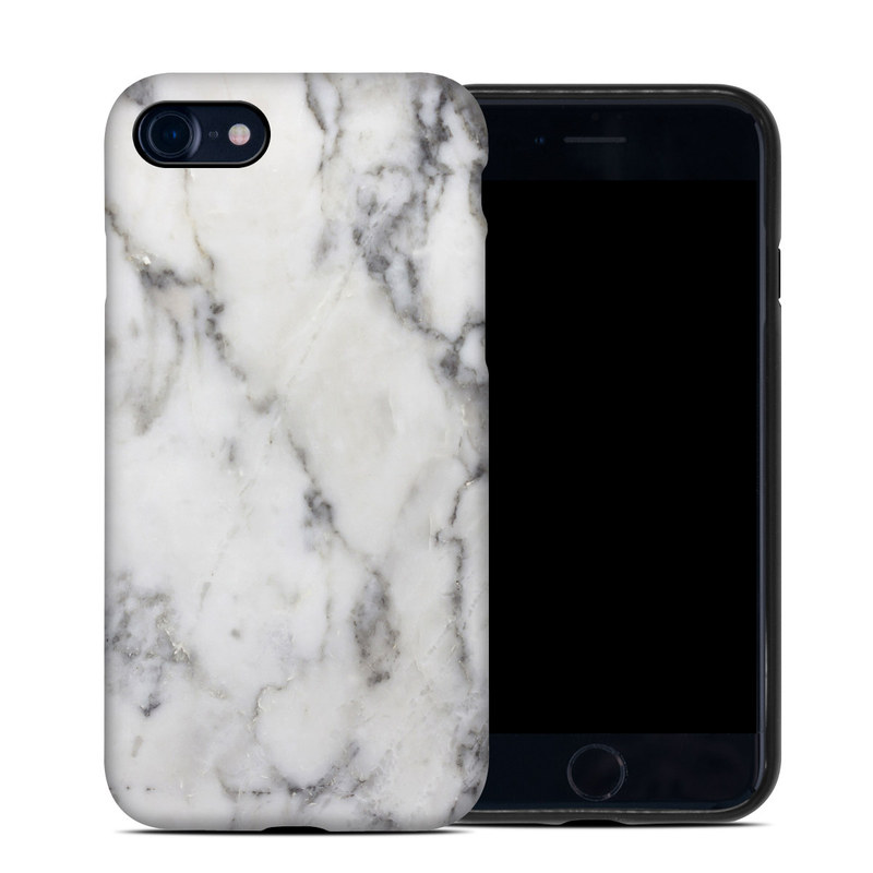 iPhone 8 Hybrid Case design of White, Geological phenomenon, Marble, Black-and-white, Freezing with white, black, gray colors