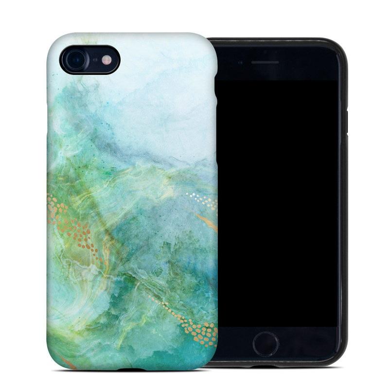 iPhone 8 Hybrid Case design of Blue, Watercolor paint, Aqua, Line, Sky, Design, Pattern, Art, Illustration with blue, yellow, orange colors