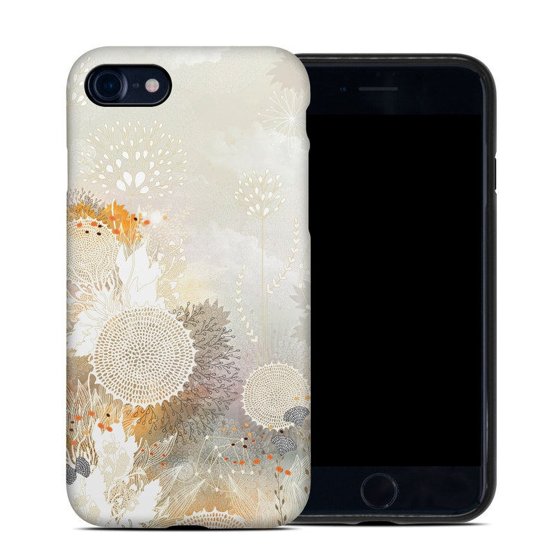 White Velvet iPhone 8 Hybrid Case