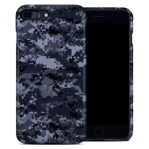 Digital Navy Camo iPhone 8 Plus Clip Case