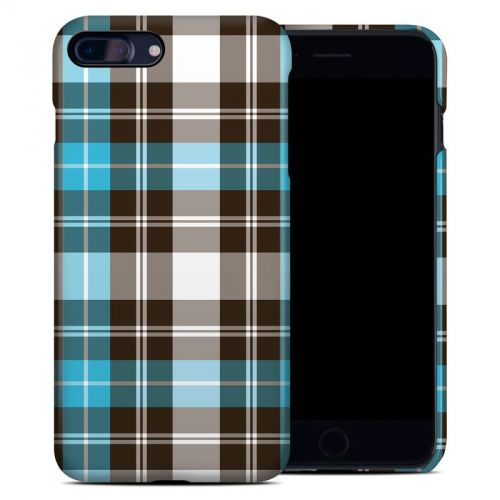 Turquoise Plaid iPhone 7 Plus Clip Case