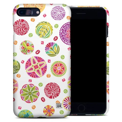 Round Flowers iPhone 7 Plus Clip Case