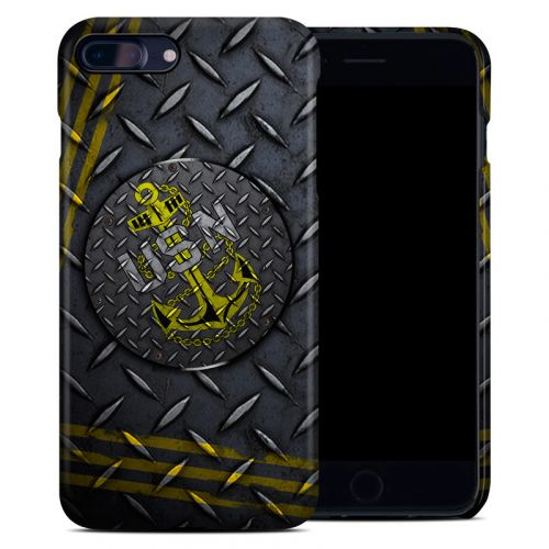 USN Diamond Plate iPhone 8 Plus Clip Case
