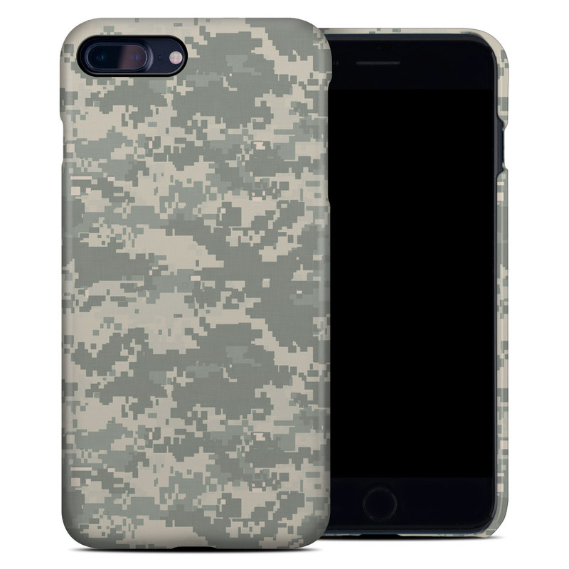 iPhone 8 Plus Clip Case design of Military camouflage, Green, Pattern, Uniform, Camouflage, Design, Wallpaper with gray, green colors