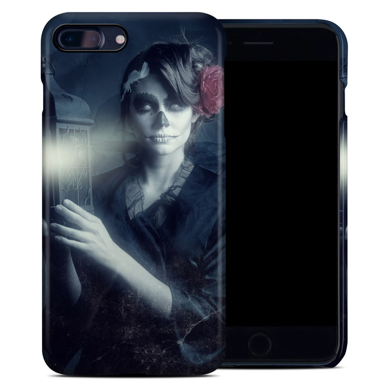 iPhone 8 Plus Clip Case design of Lady, Illustration, Darkness, Hand, Atmosphere, Photography, Art, Digital compositing, Graphic design, Cg artwork with black, white, red colors
