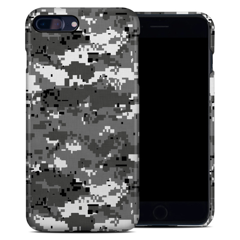 iPhone 8 Plus Clip Case design of Military camouflage, Pattern, Camouflage, Design, Uniform, Metal, Black-and-white with black, gray colors