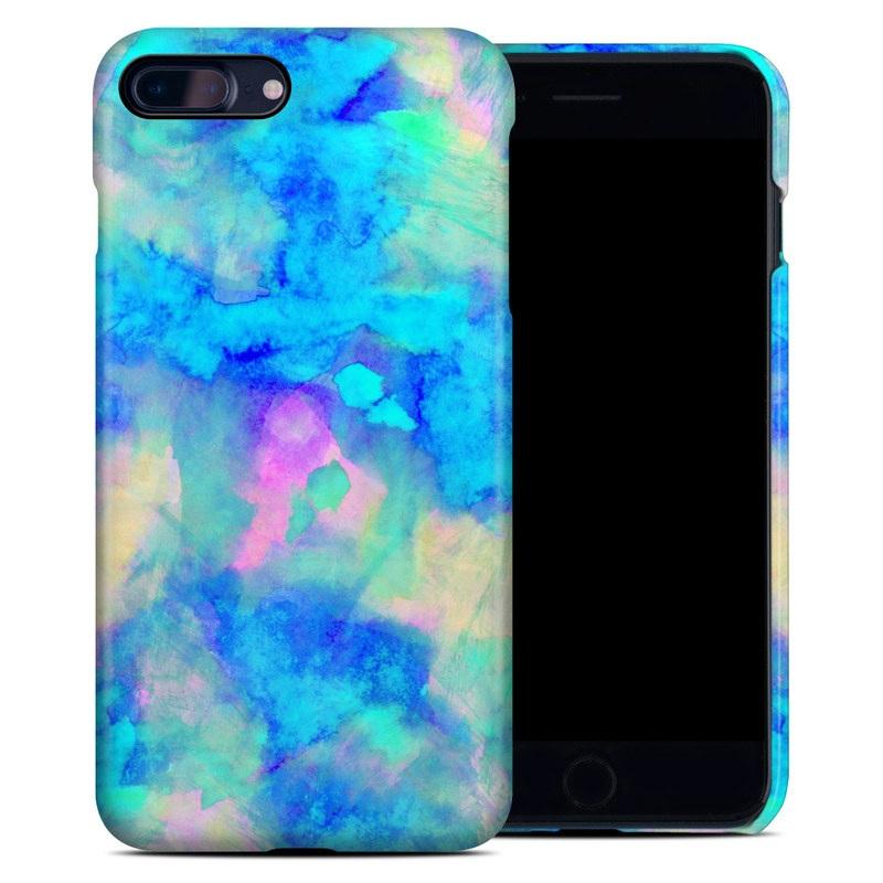 iPhone 8 Plus Clip Case design of Blue, Turquoise, Aqua, Pattern, Dye, Design, Sky, Electric blue, Art, Watercolor paint with blue, purple colors