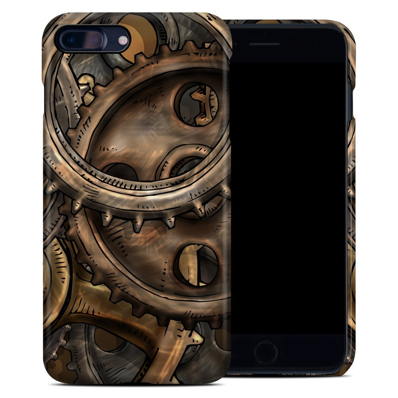 iPhone 8 Plus Clip Case design of Metal, Auto part, Bronze, Brass, Copper with black, red, green, gray colors