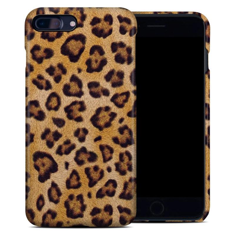 iPhone 8 Plus Clip Case design of Pattern, Felidae, Fur, Brown, Design, Terrestrial animal, Close-up, Big cats, African leopard, Organism with orange, black colors