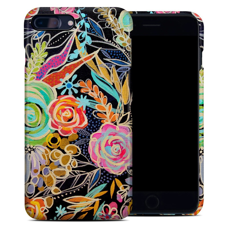 iPhone 8 Plus Clip Case design of Pattern, Floral design, Design, Textile, Visual arts, Art, Graphic design, Psychedelic art, Plant with black, gray, green, red, blue colors