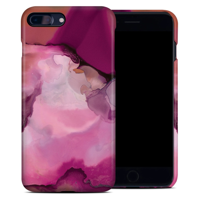 iPhone 8 Plus Clip Case design of Purple, Pink, Watercolor paint, Magenta, Illustration, Art with white, red, pink, white colors