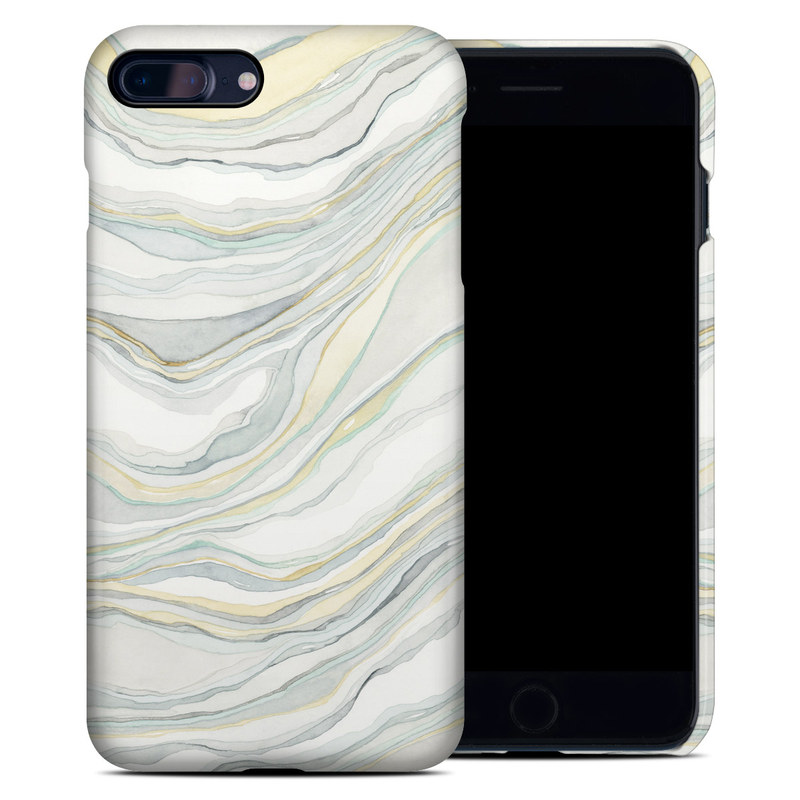 iPhone 8 Plus Clip Case design of Line, Pattern with yellow, white, blue, gray colors