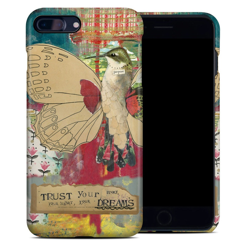 iPhone 8 Plus Clip Case design of Butterfly, Insect, Moths and butterflies, Pink, Pollinator, Illustration, Wing, Moth, Art, Invertebrate with yellow, green, brown, red, blue, pink colors