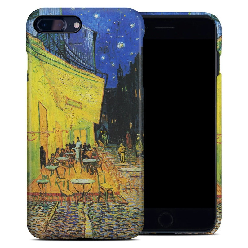 iPhone 8 Plus Clip Case design of Painting, Art, Yellow, Watercolor paint, Illustration, Modern art, Visual arts, Street, Infrastructure, Tree with green, black, blue, gray, red colors