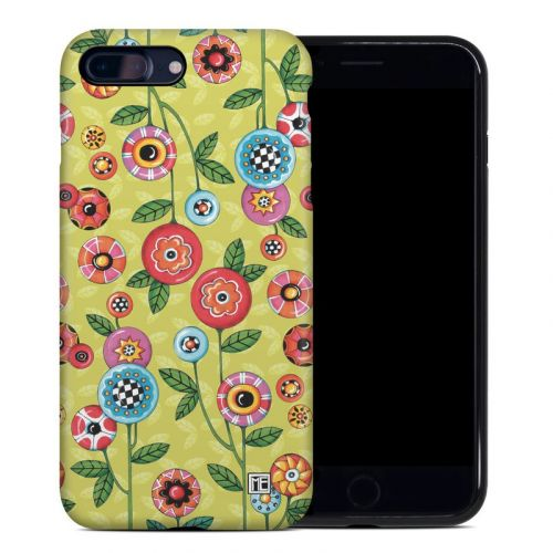 Button Flowers iPhone 8 Plus Hybrid Case