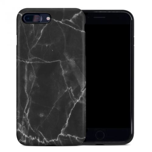 Black Marble iPhone 8 Plus Hybrid Case