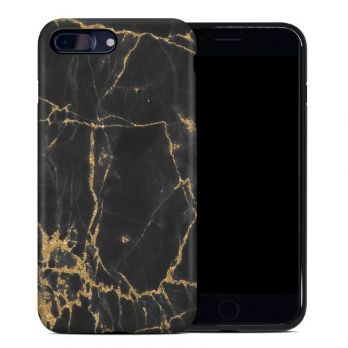 Black Gold Marble iPhone 8 Plus Hybrid Case