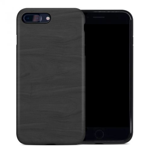 Black Woodgrain iPhone 8 Plus Hybrid Case