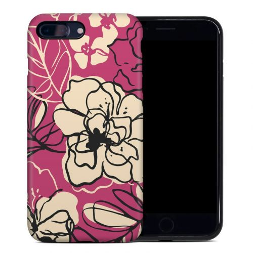 Black Lily iPhone 8 Plus Hybrid Case